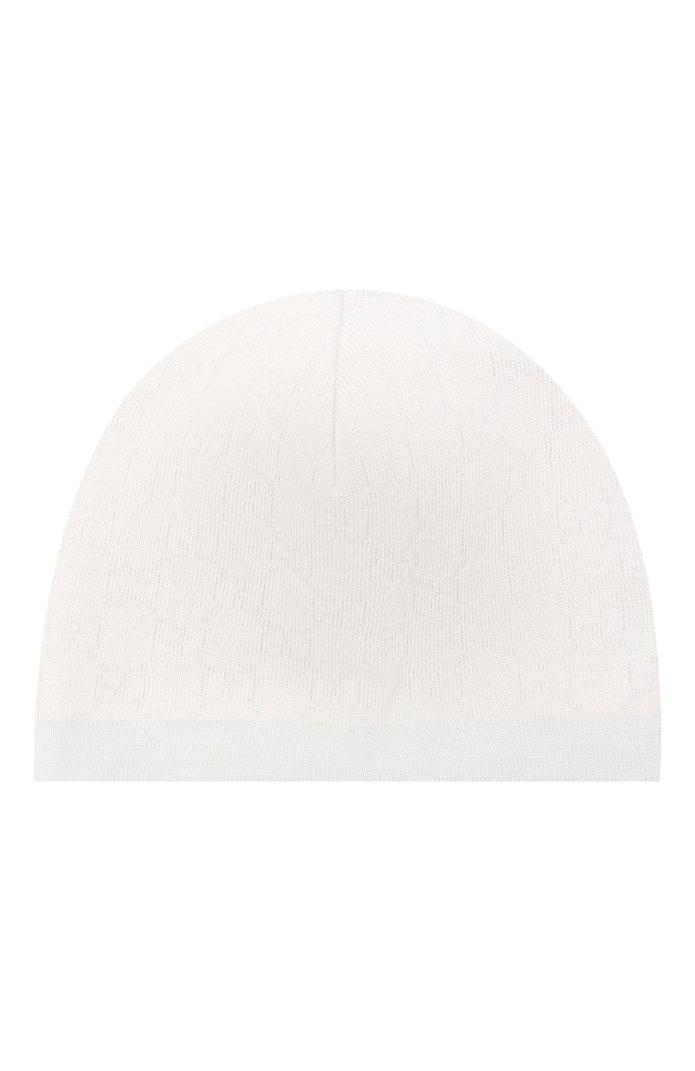 Детского шерстяная шапка GUCCI голубого цвета, арт. 418599/3K206 | Фото 1 (Материал: Шерсть)