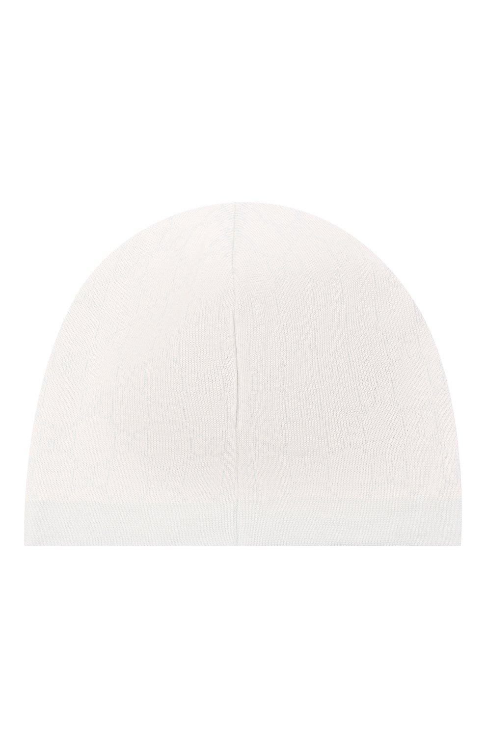 Детского шерстяная шапка GUCCI голубого цвета, арт. 418599/3K206 | Фото 2 (Материал: Шерсть)
