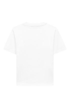 Детская хлопковая футболка BALENCIAGA белого цвета, арт. 556155/TJVM4   Фото 2