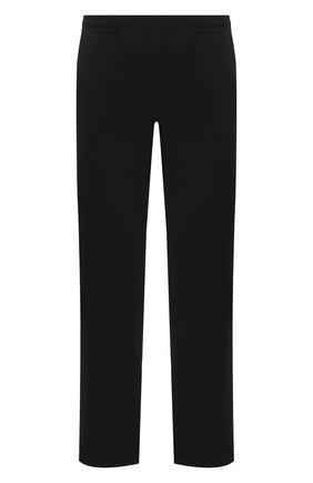 Мужские брюки BOTTEGA VENETA черного цвета, арт. 647393/V0C60 | Фото 1 (Материал внешний: Синтетический материал; Длина (брюки, джинсы): Стандартные; Случай: Повседневный; Стили: Минимализм)