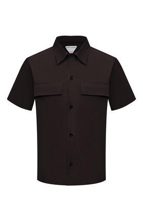 Мужская хлопковая рубашка BOTTEGA VENETA темно-коричневого цвета, арт. 652051/VKIX0 | Фото 1