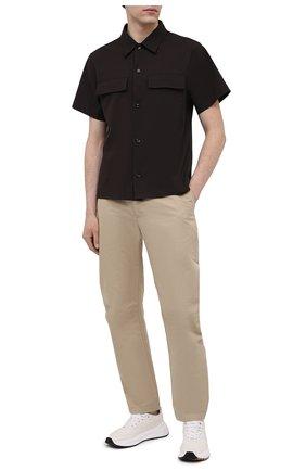 Мужская хлопковая рубашка BOTTEGA VENETA темно-коричневого цвета, арт. 652051/VKIX0   Фото 2