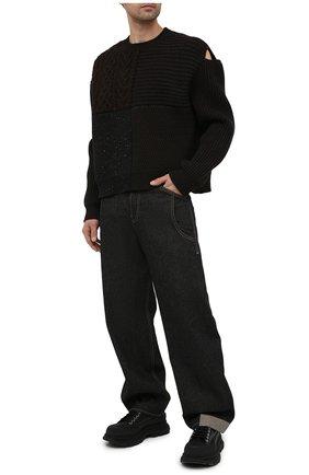 Мужские джинсы JACQUEMUS темно-синего цвета, арт. 215DE02/123390   Фото 2 (Материал внешний: Хлопок; Длина (брюки, джинсы): Стандартные; Кросс-КТ: Деним; Силуэт М (брюки): Широкие; Стили: Минимализм)