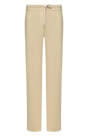 Мужские брюки из вискозы TOM FORD бежевого цвета, арт. 979R06/739D42 | Фото 1