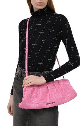 Женский клатч cloud BALENCIAGA розового цвета, арт. 618899/1R053 | Фото 2