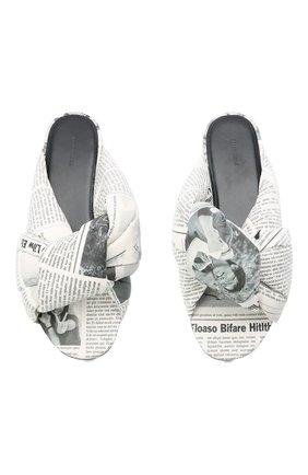 Женские кожаные шлепанцы drapy BALENCIAGA белого цвета, арт. 636576/WBCC1   Фото 5