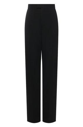 Женские шерстяные брюки BOTTEGA VENETA черного цвета, арт. 652062/VKIS0 | Фото 1