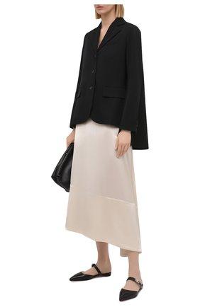 Женские кожаные сабо choc lock CHRISTIAN LOUBOUTIN черного цвета, арт. 1211060/CH0C L0CK FLAT | Фото 2