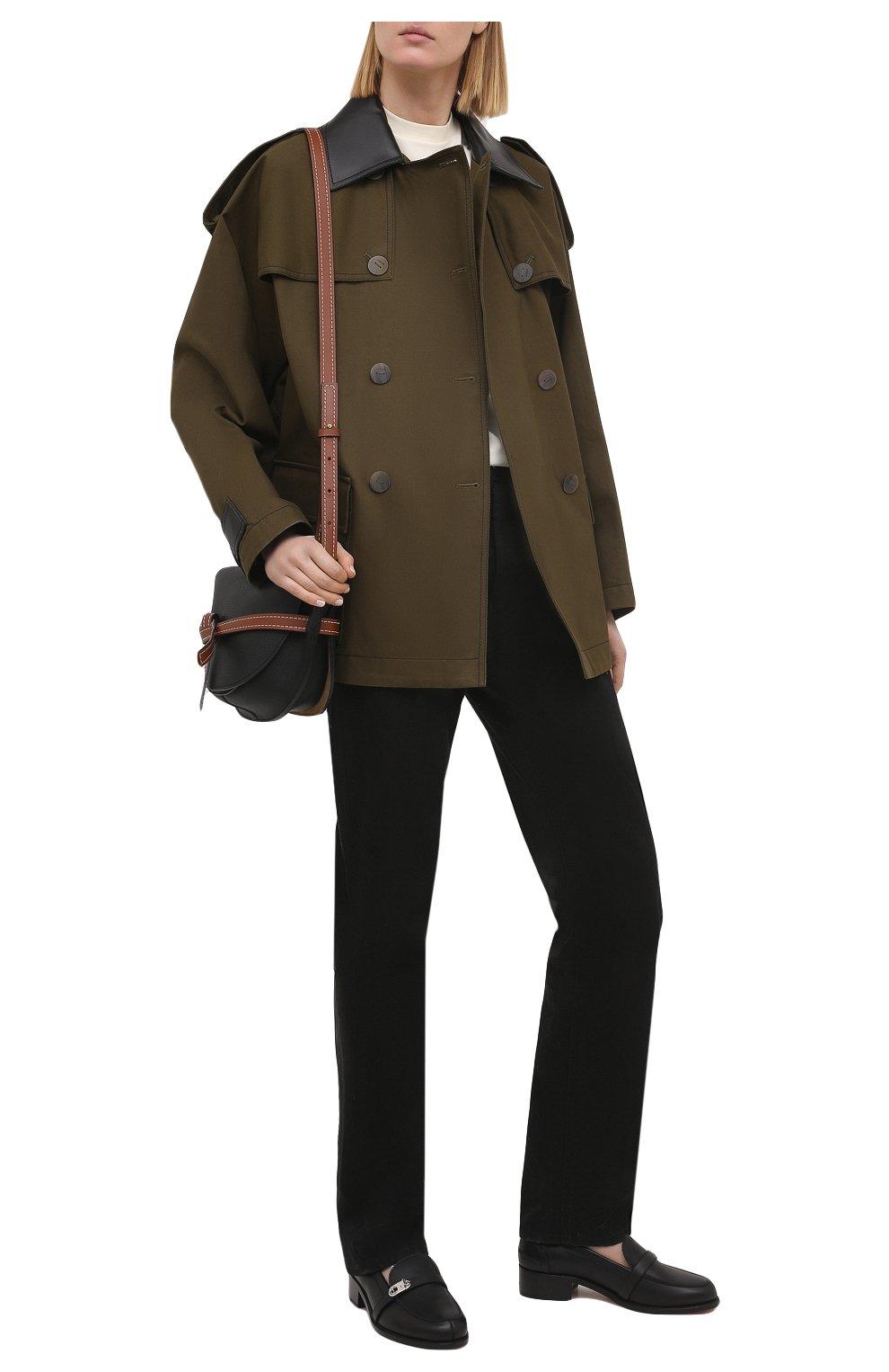Женские кожаные лоферы lock me mock CHRISTIAN LOUBOUTIN черного цвета, арт. 1210585/L0CK ME M0C FLAT | Фото 2