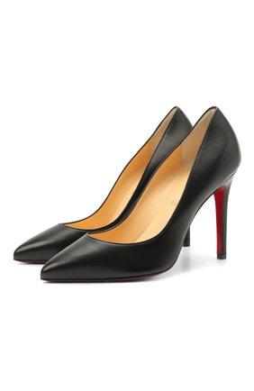 Женские кожаные туфли pigalle 100 CHRISTIAN LOUBOUTIN черного цвета, арт. 3160520/PIGALLE 100 | Фото 1