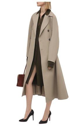 Женские кожаные туфли pigalle 100 CHRISTIAN LOUBOUTIN черного цвета, арт. 3160520/PIGALLE 100 | Фото 2