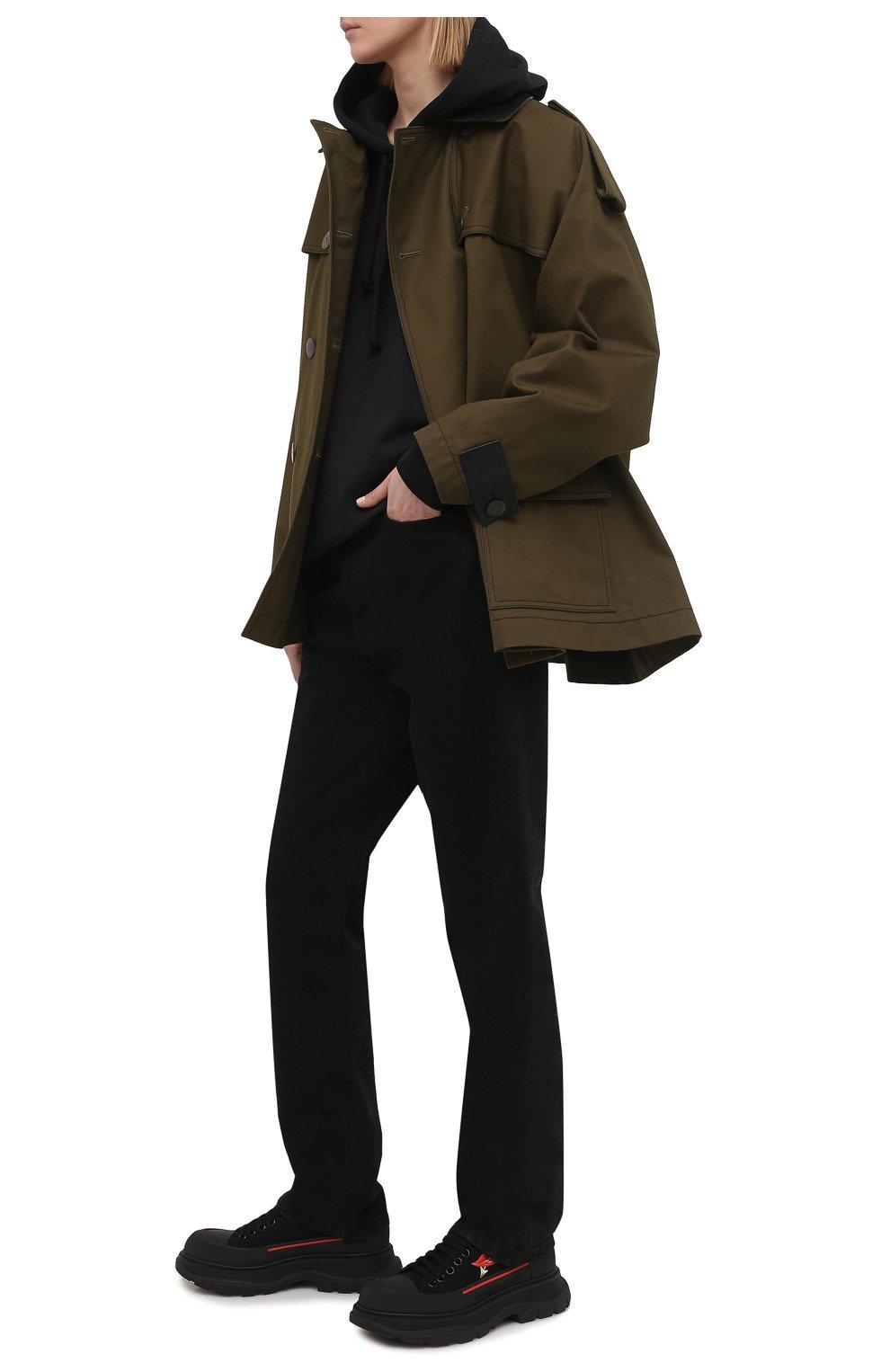 Женские текстильные кроссовки ALEXANDER MCQUEEN черного цвета, арт. 660389/W4L3Q | Фото 2