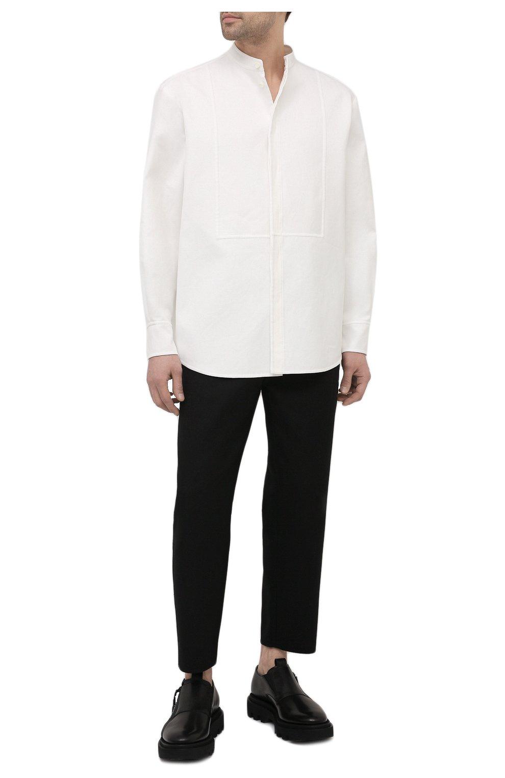 Мужская хлопковая рубашка VALENTINO белого цвета, арт. VV3ABG9575Y | Фото 2