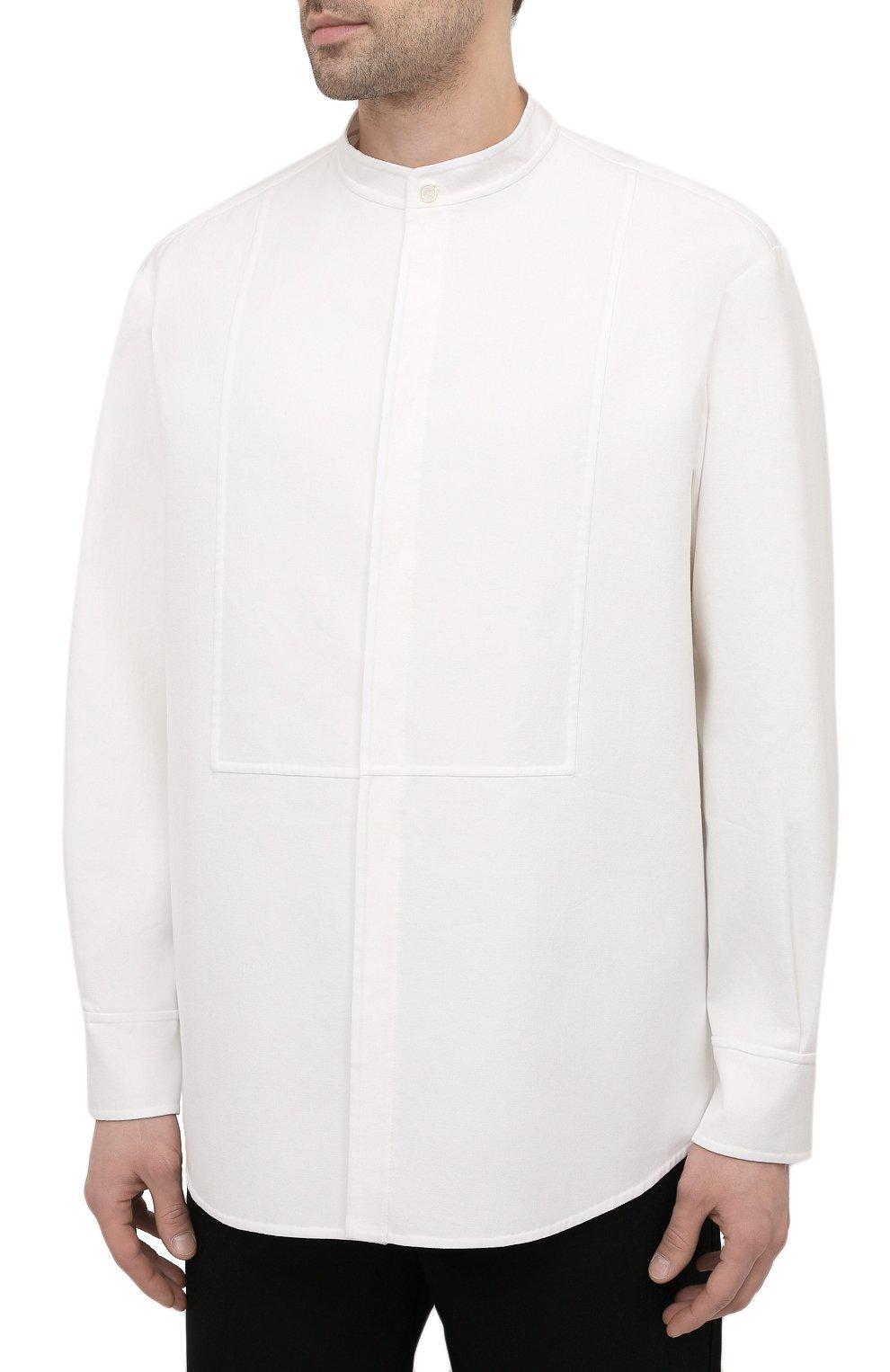 Мужская хлопковая рубашка VALENTINO белого цвета, арт. VV3ABG9575Y | Фото 3