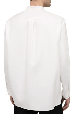Мужская хлопковая рубашка VALENTINO белого цвета, арт. VV3ABG9575Y | Фото 4