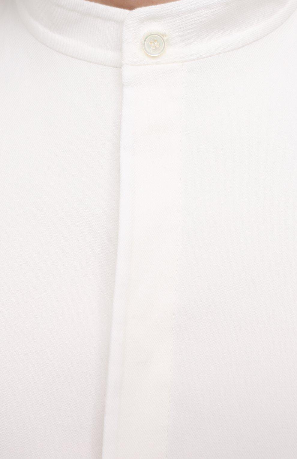 Мужская хлопковая рубашка VALENTINO белого цвета, арт. VV3ABG9575Y | Фото 5