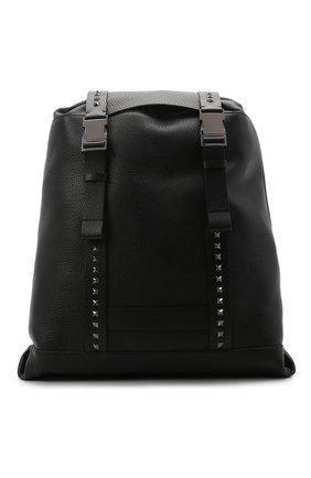Мужской кожаный рюкзак VALENTINO черного цвета, арт. VY2B0A42/SXP   Фото 1