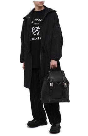 Мужской кожаный рюкзак VALENTINO черного цвета, арт. VY2B0A42/SXP   Фото 2