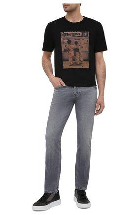 Мужские кожаные кеды ICEBERG черного цвета, арт. NIU1400A/VESUVI0 | Фото 2