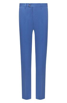 Мужские хлопковые брюки FEDELI синего цвета, арт. 4UEL0405 | Фото 1