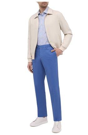 Мужские хлопковые брюки FEDELI синего цвета, арт. 4UEL0405 | Фото 2
