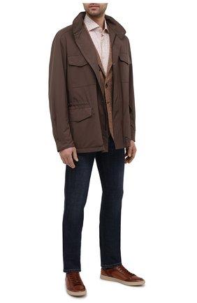 Мужские кожаные кеды OFFICINE CREATIVE коричневого цвета, арт. KAREEM LUX/001/AER0 BUTTER0 | Фото 2
