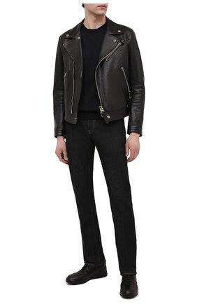 Мужские кожаные кеды OFFICINE CREATIVE черного цвета, арт. ACE/010/GIAN0 | Фото 2