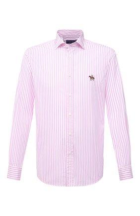 Мужская хлопковая рубашка RALPH LAUREN розового цвета, арт. 790833820 | Фото 1