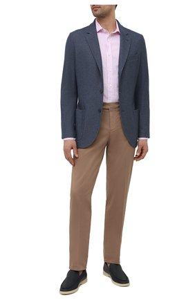 Мужская хлопковая рубашка RALPH LAUREN розового цвета, арт. 790833820 | Фото 2