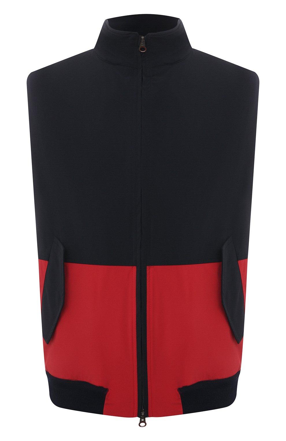Мужской жилет KIRED темно-синего цвета, арт. WMAXBSMW6905003000   Фото 1 (Кросс-КТ: Куртка; Материал внешний: Синтетический материал; Длина (верхняя одежда): Короткие; Стили: Кэжуэл)