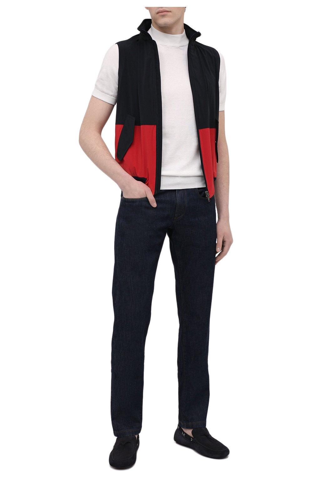 Мужской жилет KIRED темно-синего цвета, арт. WMAXBSMW6905003000   Фото 2 (Кросс-КТ: Куртка; Материал внешний: Синтетический материал; Длина (верхняя одежда): Короткие; Стили: Кэжуэл)