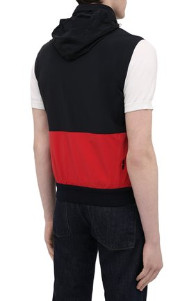 Мужской жилет KIRED темно-синего цвета, арт. WMAXBSMW6905003000   Фото 6 (Кросс-КТ: Куртка; Материал внешний: Синтетический материал; Длина (верхняя одежда): Короткие; Стили: Кэжуэл)