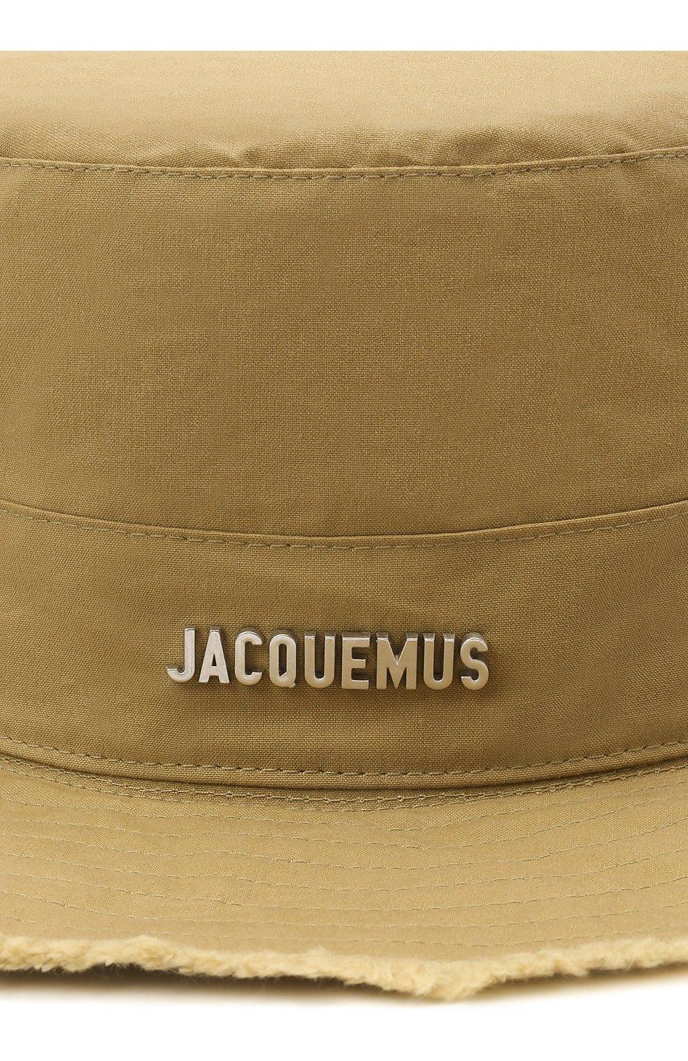 Мужская хлопковая панама le bob artichaut JACQUEMUS зеленого цвета, арт. 211AC01/504550 | Фото 3