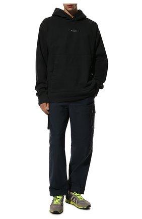 Мужские комбинированные кроссовки lucy PREMIATA серого цвета, арт. LUCY/VAR1313E | Фото 2 (Материал внешний: Текстиль; Подошва: Плоская; Материал внутренний: Натуральная кожа; Стили: Гранж)