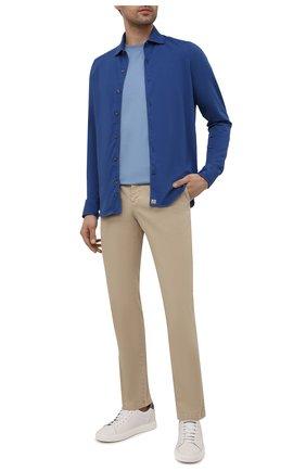 Мужская хлопковая рубашка SONRISA синего цвета, арт. ITJ08/IN/J119 | Фото 2