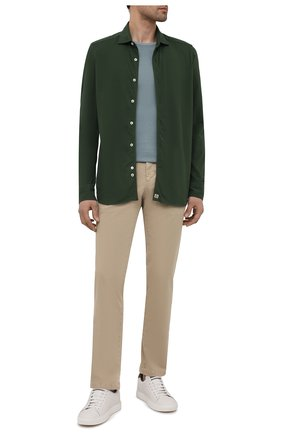 Мужская хлопковая рубашка SONRISA хаки цвета, арт. ITJ08/IN/J119 | Фото 2