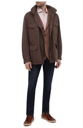 Мужская хлопковая рубашка SONRISA бежевого цвета, арт. IFI0R9/BT/C4042 | Фото 2