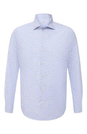 Мужская хлопковая рубашка SONRISA голубого цвета, арт. IFI0R9/BT/C4042 | Фото 1