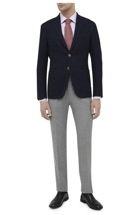 Мужская сорочка из хлопка и шелка CANALI светло-розового цвета, арт. XX05/GX02168 | Фото 2 (Материал внешний: Хлопок, Шелк; Рукава: Длинные; Длина (для топов): Стандартные; Случай: Формальный; Стили: Классический; Рубашки М: Slim Fit; Манжеты: На пуговицах; Воротник: Кент; Принт: Клетка)