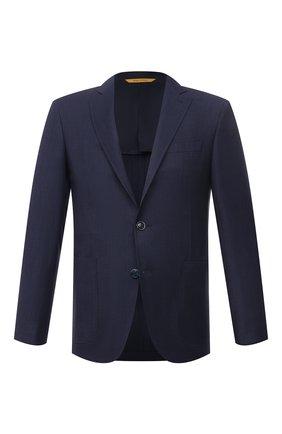 Мужской шерстяной пиджак CANALI темно-синего цвета, арт. 25275/CR03178/116 | Фото 1