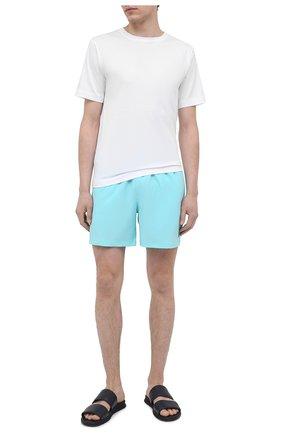 Мужские кожаные шлепанцы BOGNER темно-синего цвета, арт. 12120821/ACAPULG0 3 A | Фото 2 (Материал внутренний: Натуральная кожа)