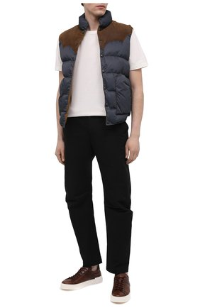 Мужские кожаные кеды HOGAN темно-коричневого цвета, арт. HXM5260CW00P88 | Фото 2