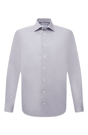Мужская хлопковая сорочка ETON серого цвета, арт. 1000 01772 | Фото 1 (Материал внешний: Хлопок; Рукава: Длинные; Длина (для топов): Стандартные; Случай: Формальный; Стили: Классический; Манжеты: На пуговицах; Рубашки М: Regular Fit; Воротник: Акула; Принт: С принтом)