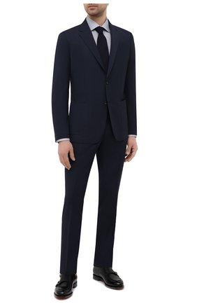 Мужская хлопковая сорочка ETON серого цвета, арт. 1000 01772 | Фото 2 (Материал внешний: Хлопок; Рукава: Длинные; Длина (для топов): Стандартные; Случай: Формальный; Стили: Классический; Манжеты: На пуговицах; Рубашки М: Regular Fit; Воротник: Акула; Принт: С принтом)