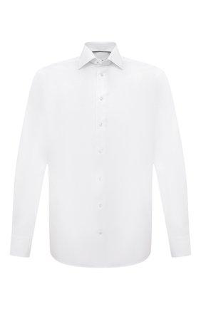 Мужская хлопковая сорочка ETON белого цвета, арт. 1000 01772 | Фото 1 (Длина (для топов): Стандартные; Рукава: Длинные; Материал внешний: Хлопок; Случай: Формальный; Стили: Классический; Рубашки М: Regular Fit; Манжеты: На пуговицах; Воротник: Акула; Принт: Однотонные)