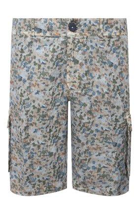 Мужские льняные шорты 120% LINO разноцветного цвета, арт. T0M2426/F935/S00 | Фото 1