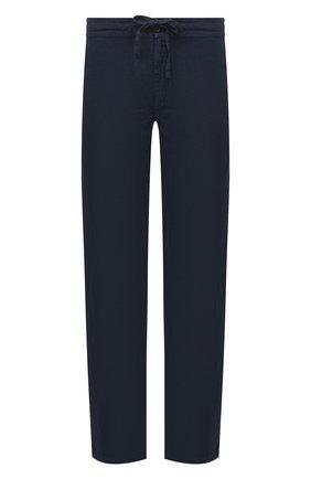 Мужские льняные брюки 120% LINO темно-синего цвета, арт. T0M299M/0253/000 | Фото 1