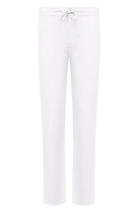 Мужские льняные брюки 120% LINO белого цвета, арт. T0M299M/0253/000 | Фото 1