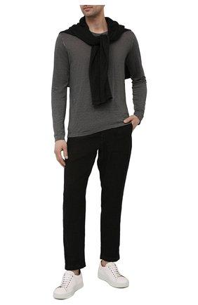 Мужская льняной лонгслив 120% LINO темно-серого цвета, арт. T0M70F4/E908/S00 | Фото 2