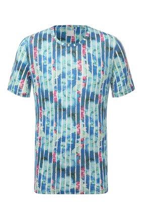 Мужская льняная футболка 120% LINO разноцветного цвета, арт. T0M7186/F933/S00   Фото 1
